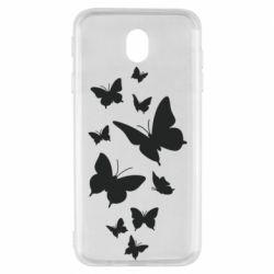 Чохол для Samsung J7 2017 Many butterflies