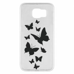 Чохол для Samsung S6 Many butterflies