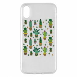 Чехол для iPhone X/Xs Many cacti