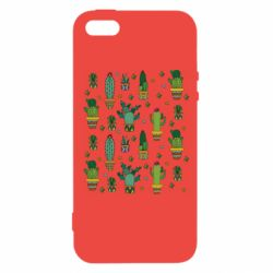 Чехол для iPhone5/5S/SE Many cacti
