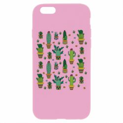Чехол для iPhone 6/6S Many cacti