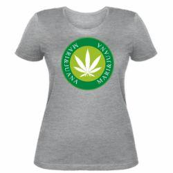 Женская футболка Mari&juana