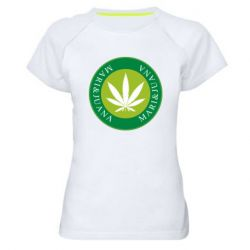 Женская спортивная футболка Mari&juana