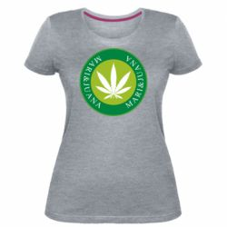 Женская стрейчевая футболка Mari&juana