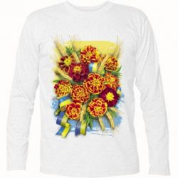 Футболка з довгим рукавом Marigold with spikelets of wheat