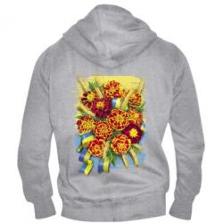 Чоловіча толстовка на блискавці Marigold with spikelets of wheat