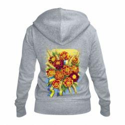 Жіноча толстовка на блискавці Marigold with spikelets of wheat