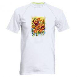 Чоловіча спортивна футболка Marigold with spikelets of wheat