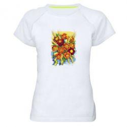 Жіноча спортивна футболка Marigold with spikelets of wheat