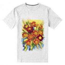 Чоловіча стрейчева футболка Marigold with spikelets of wheat