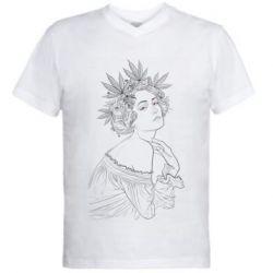 Мужская футболка  с V-образным вырезом Маривана