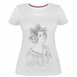 Женская стрейчевая футболка Маривана