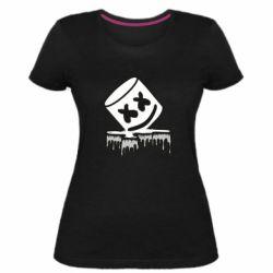 Жіноча стрейчева футболка Marshmallow melts