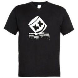 Чоловіча футболка з V-подібним вирізом Marshmallow melts