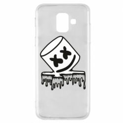 Купить Dj Marshmello, Чехол для Samsung A6 2018 Marshmallow melts, FatLine