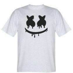 Мужская футболка Marshmello and face logo