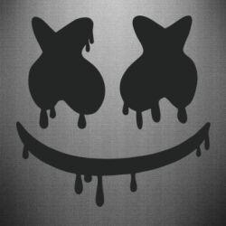 Наклейка Marshmello and face logo