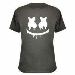 Камуфляжная футболка Marshmello and face logo