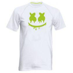 Мужская спортивная футболка Marshmello and face logo