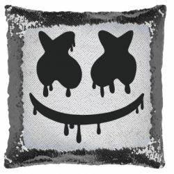 Подушка-хамелеон Marshmello and face logo