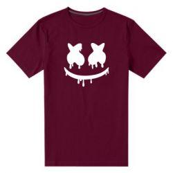 Мужская стрейчевая футболка Marshmello and face logo