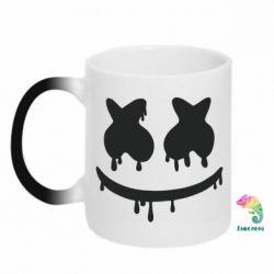 Кружка-хамелеон Marshmello and face logo