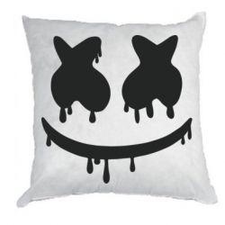 Подушка Marshmello and face logo
