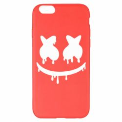 Чехол для iPhone 6 Plus/6S Plus Marshmello and face logo