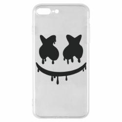 Чехол для iPhone 7 Plus Marshmello and face logo