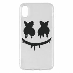 Чехол для iPhone X/Xs Marshmello and face logo