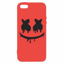 Чехол для iPhone5/5S/SE Marshmello and face logo
