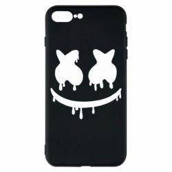 Чехол для iPhone 8 Plus Marshmello and face logo