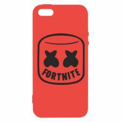 Чохол для iphone 5/5S/SE Marshmello and Fortnite