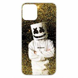 Чехол для iPhone 11 Marshmello Dj and gold - FatLine