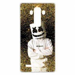 Чехол для LG G4 Marshmello Dj and gold - FatLine