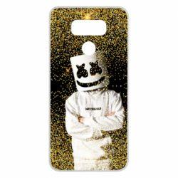 Чехол для LG G6 Marshmello Dj and gold - FatLine