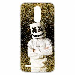 Чехол для LG K10 2017 Marshmello Dj and gold - FatLine