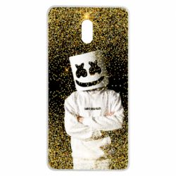 Чехол для Nokia 3 Marshmello Dj and gold - FatLine