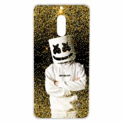 Чехол для Nokia 6 Marshmello Dj and gold - FatLine