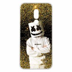 Чехол для Meizu 16 Marshmello Dj and gold - FatLine