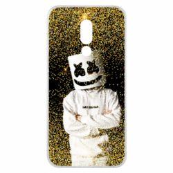 Чехол для Meizu 16x Marshmello Dj and gold - FatLine