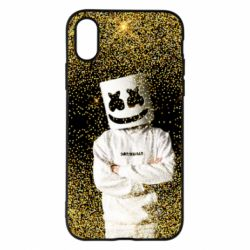 Чехол для iPhone X/Xs Marshmello Dj and gold - FatLine