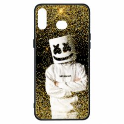 Чехол для Samsung A6s Marshmello Dj and gold - FatLine