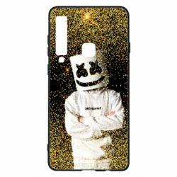 Чехол для Samsung A9 2018 Marshmello Dj and gold - FatLine