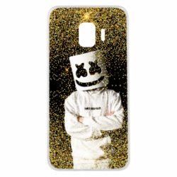 Чехол для Samsung J2 Core Marshmello Dj and gold - FatLine