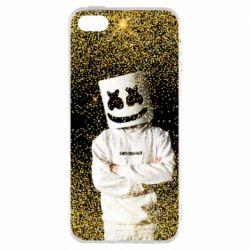 Чехол для iPhone5/5S/SE Marshmello Dj and gold - FatLine