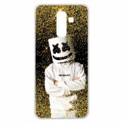 Чехол для Samsung J8 2018 Marshmello Dj and gold - FatLine