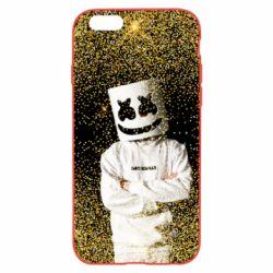 Чехол для iPhone 6/6S Marshmello Dj and gold - FatLine