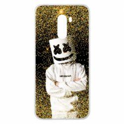 Чехол для Xiaomi Pocophone F1 Marshmello Dj and gold - FatLine