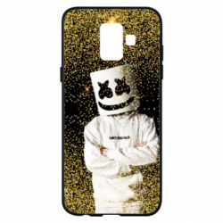 Чехол для Samsung A6 2018 Marshmello Dj and gold - FatLine